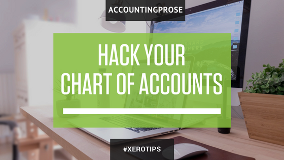 how to add chart of accounts in xero