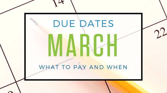 Tax Deadlines March 2018
